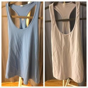 2 Lululemon Basic Tanks, blue and lavender